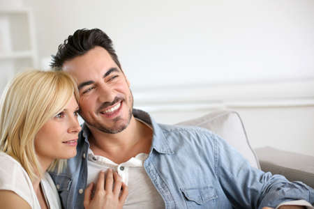 relaxed man: Couple looking towards the future