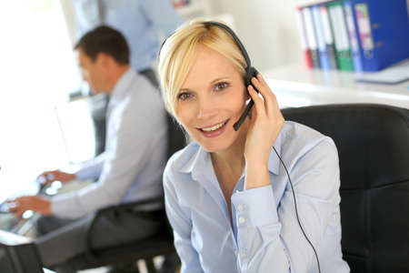 Portrait of beautiful customer service operator Stock Photo - 19687456
