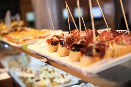 fingerfood: Closeup of Spanish tapas