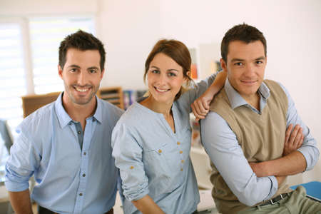 Portrait of cheerful and successful business team Stock Photo - 20191561