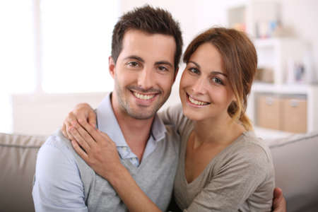 Portrait of smiling loving couple photo