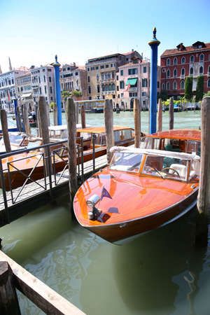 grande: View of boats on Canal grande, Venice