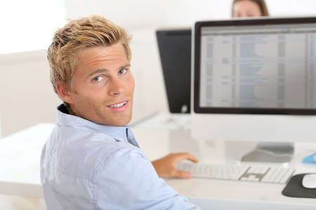 Training ped in advertisement agency Stock Photo - 22032107