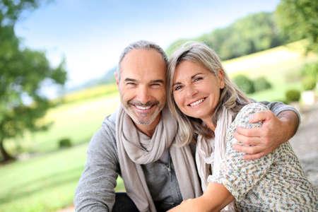 Portrait of loving senior couple Stock Photo