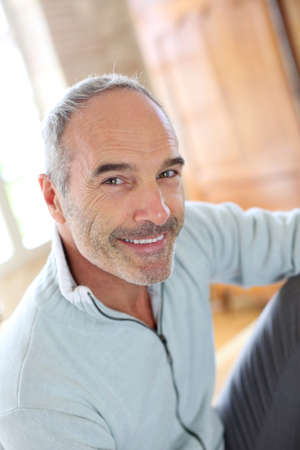 Portrait of 50-year-old attractive man Stock Photo