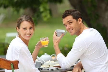 vacation home: Romantic breakfast in hotel garden