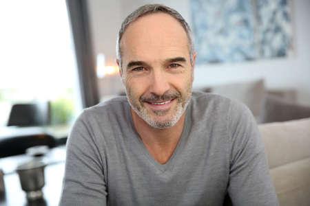 Portrait of handsome mature man Reklamní fotografie - 23904745