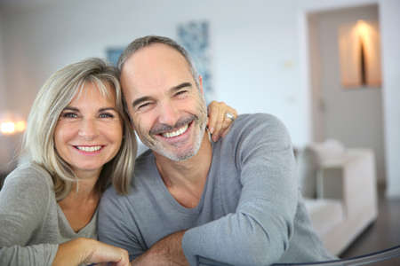 Cheerful senior couple enjoying life Stock Photo