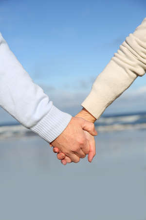 bodypart: Closeup of senior people holding hands Stock Photo