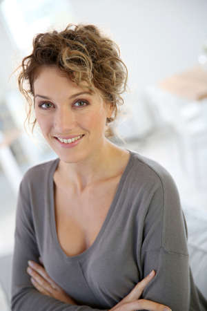 Portrait of attractive 35-year-old woman Stock Photo