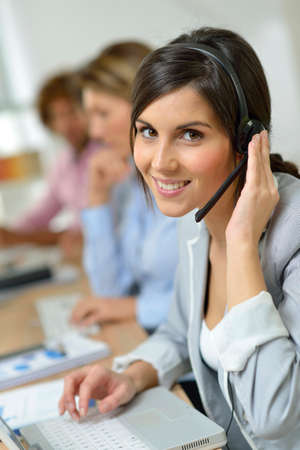 prospection: Beautiful smiling customer service representative