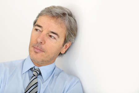 Portrait of mature businessman, isolated photo