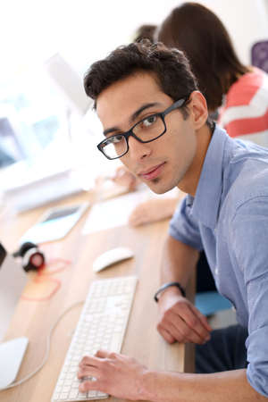 apprenticeship: Young man in business apprenticeship Stock Photo