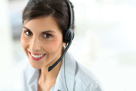 customer service representative: Portrait of beautiful customer service representative Stock Photo