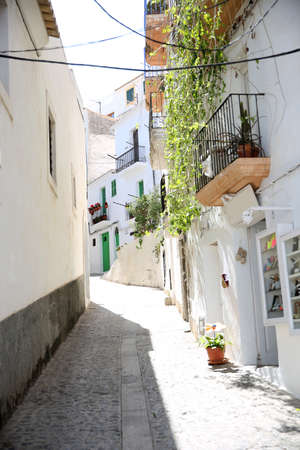 old quarter: View of typical of Ibiza old quarter Stock Photo