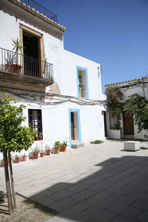 View of typical house of Ibiza