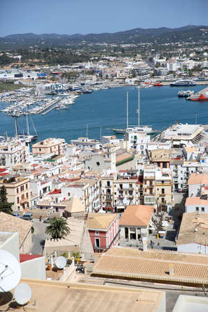 old quarter: View of old quarter of Ibiza from the top of Dalt Vila