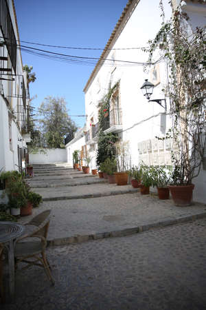 old quarter: Typical street of Ibiza old quarter