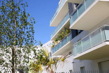 Modern gebouw van appartementen Stockfoto