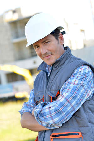 Portrait of smiling construction manager photo