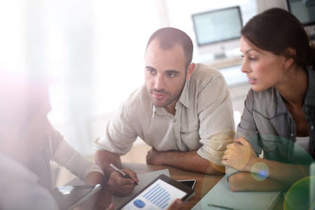 group plan: Business people meeting for budget definition Stock Photo