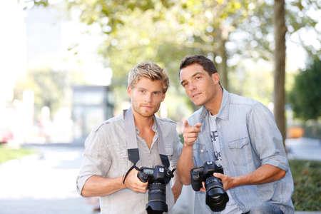 amateur: Jóvenes fotógrafos en un día de capacitación fuera