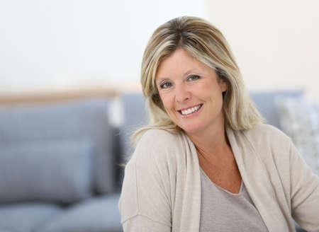 woman 40 years: Portrait of beautiful 40-year-old woman Stock Photo