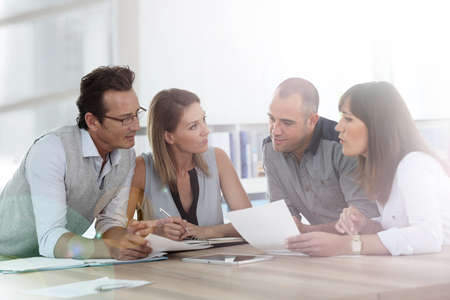 casual: Group of business people meeting in office