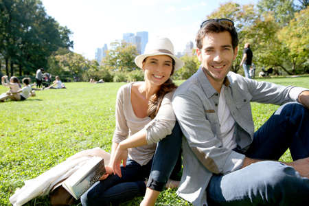 Couple relaxing in Central Park, New york City photo