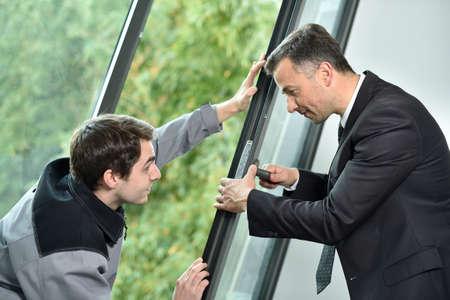 supervisores: Joiner con instalación de la ventana control de supervisor