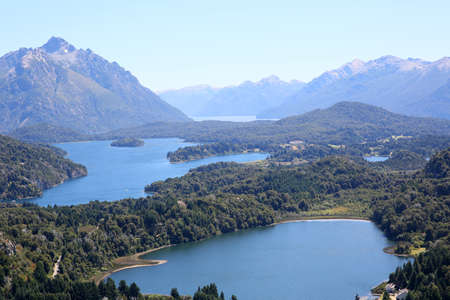 huapi: View of Nahuel Huapi lake- Argentina Stock Photo
