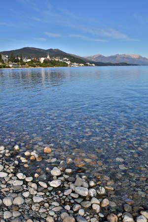 lake nahuel huapi: Nahuel Huapi lake and San Carlos de Bariloche in background