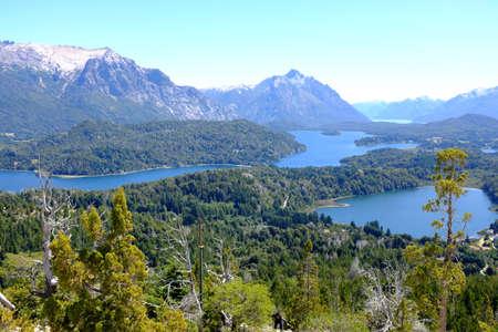 lake nahuel huapi: Overview of Nahuel Huapi national park and Lake - Argentina Stock Photo