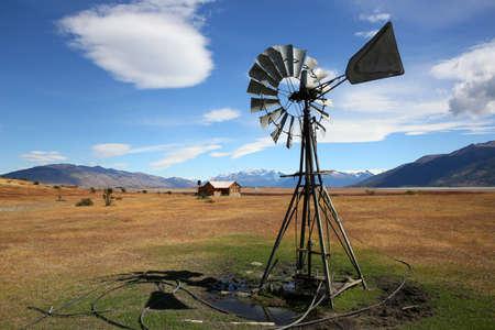 argentinian: Windmill in Argentinian farmland