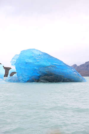 argentino: Icebergs on the Argentino Lake Stock Photo