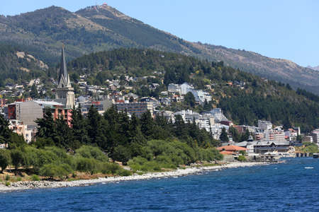 huapi: View of San Carlos de Bariloche and Nahuel Huapi lake