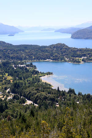 lake argentina: View of Nahuel Huapi lake- Argentina Stock Photo