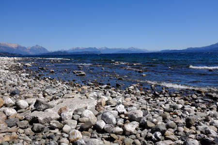 huapi: Nahuel Huapi lake and Mountains in background Stock Photo