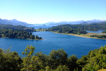 lake argentina: Overview of Nahuel Huapi national park and Lake - Argentina Stock Photo
