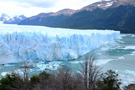 perito moreno: View of Perito Moreno Glacier- South Patagonia, Argentina Stock Photo