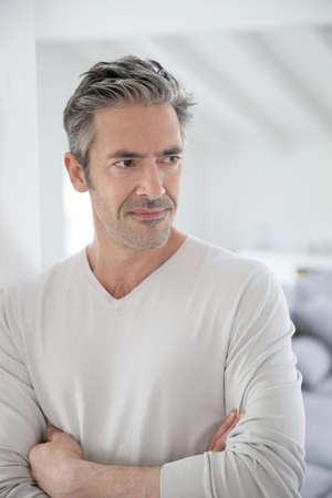 Portrait Of Attractive 50-year-old Man Stock Photo, Picture And ...