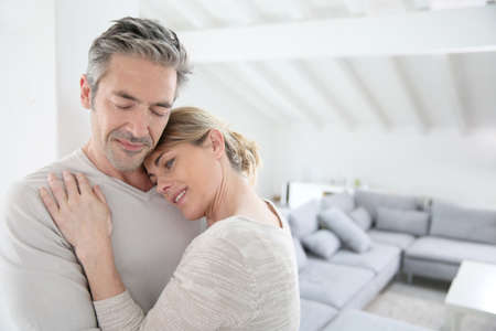 couple in love: Portrait of loving mature couple