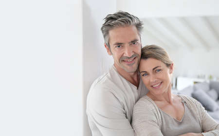 textspace: Portrait of mature couple being happy
