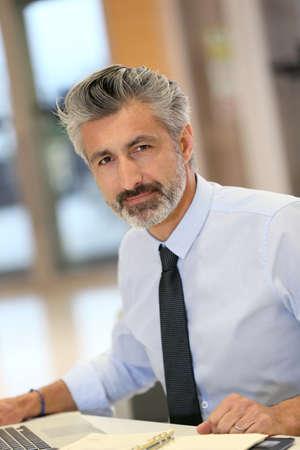 mature businessman: Portrait of mature businessman in office