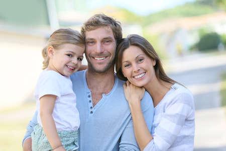 Portret van een gelukkig gezin plezier samen Stockfoto