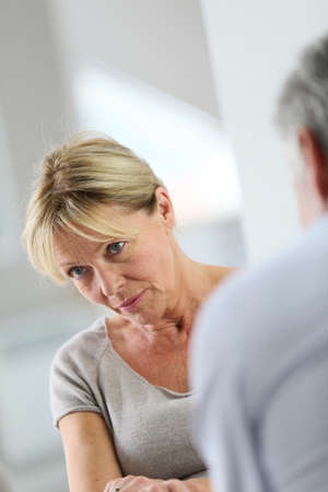 attending: Senior woman attending group therapy