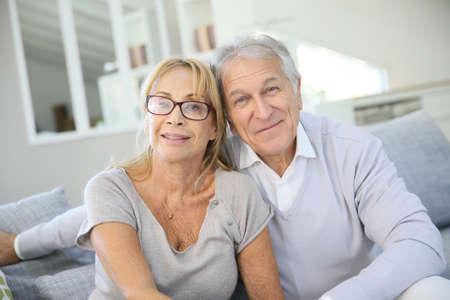happy seniors: Portrait of senior couple enjoying retirement