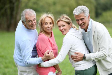 happy seniors: Happy group of senior people