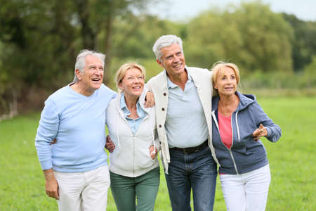 Group of senior people on a walking day