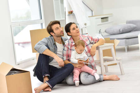 moving in: Young family moving into new home